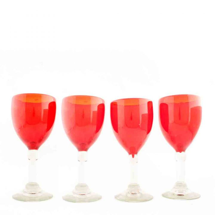 red recycled wine glass