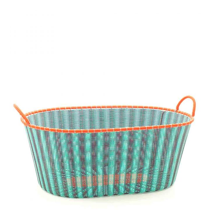 aubergine and pistachio ironing basket