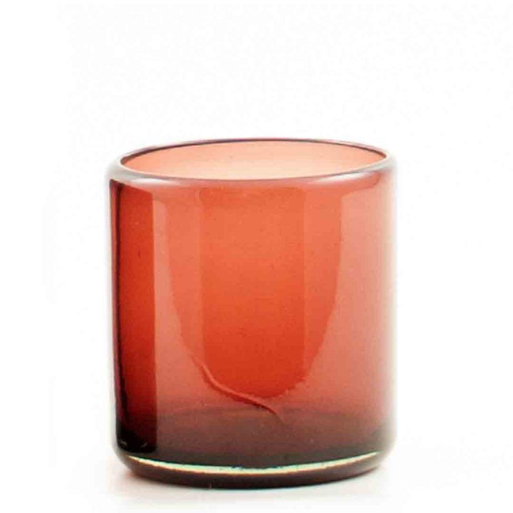 Plum recycled glass roca tumbler