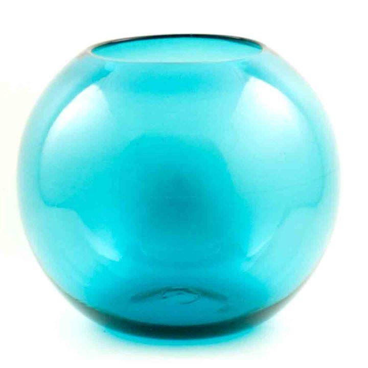 Turquoise fish bowl