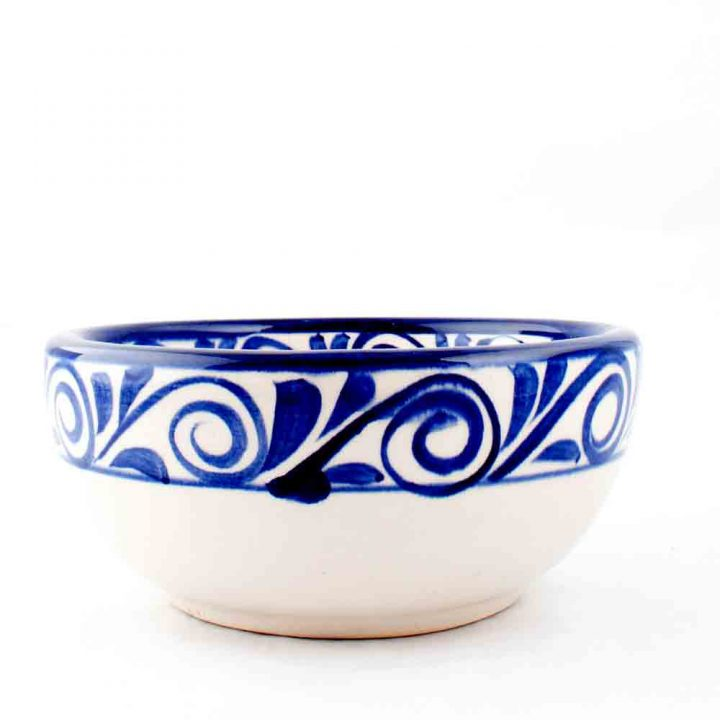 Mexican pottery blue bowl