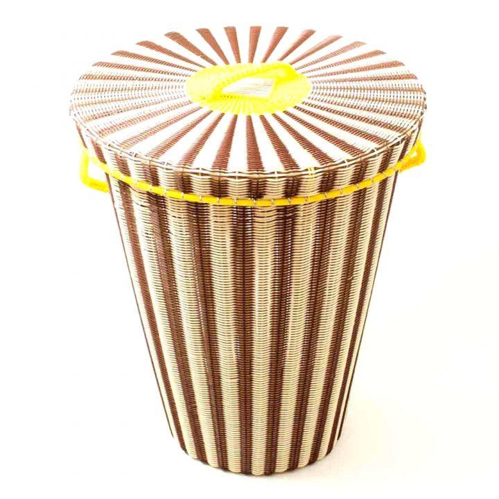Chocolate and cream ironing basket