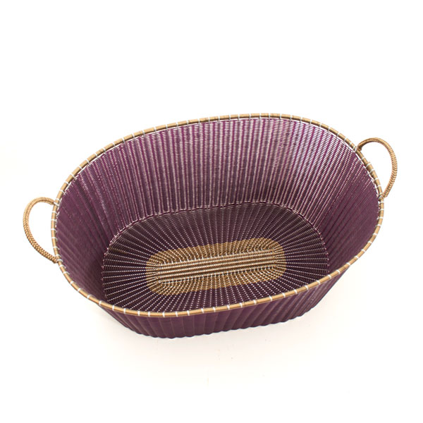 Chocolate with gold rim ironing basket