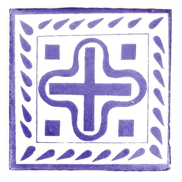 Palido cruz tile