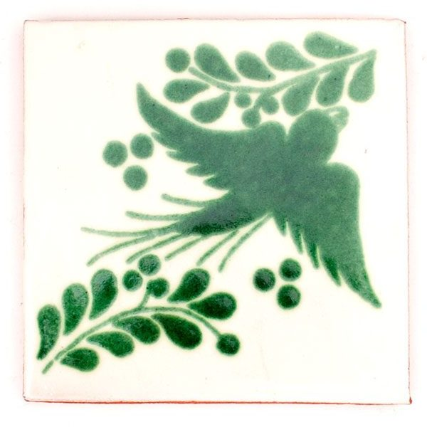 Paloma green hand made tiles