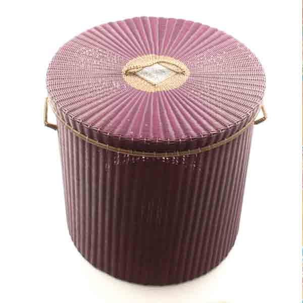 Aubergine gold rim storage basket