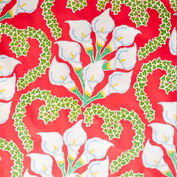 Lily oil cloth