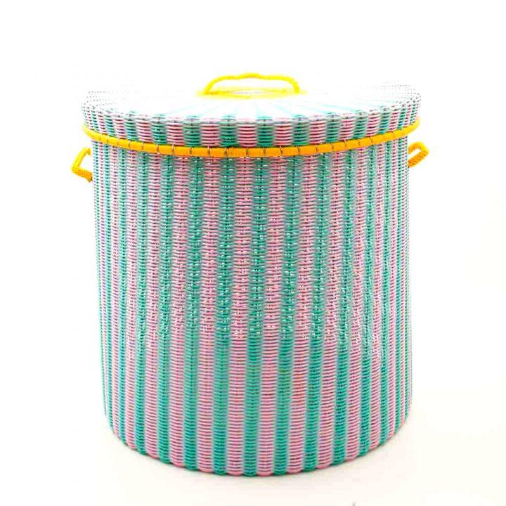 pink-pistachio storage basket