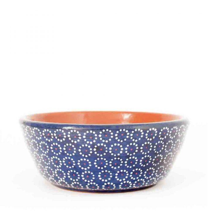 blue capula bowl Mexican table ware