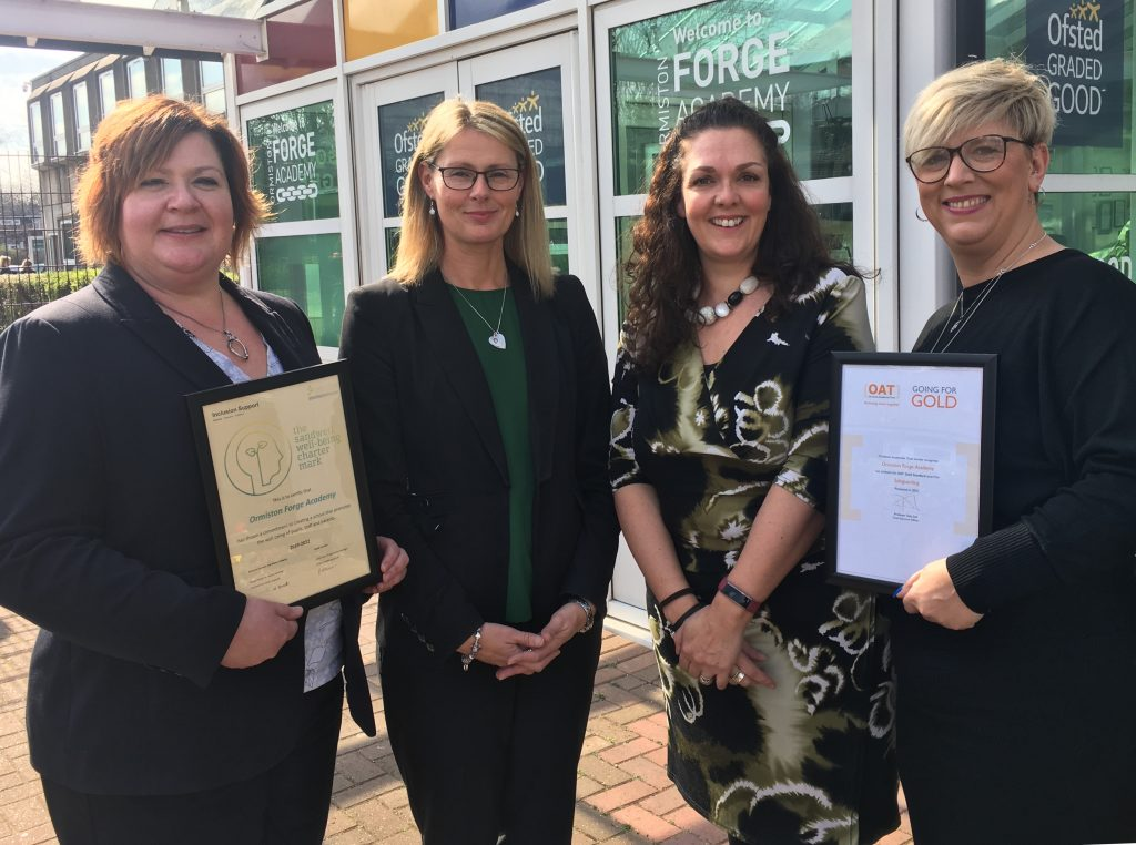 Geraldine Butler. Lisa Mason, Rachel McCarthy and Sarah Taylor celebrate latest awards and initiatives.