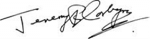 Signature of Jeremy Corbyn