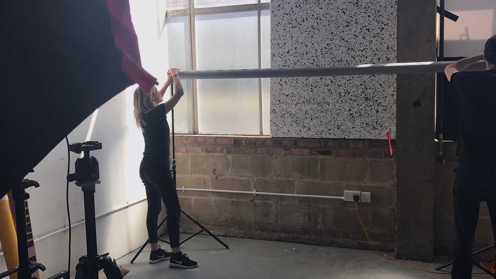 Behind the scenes at the Yourbill photoshoot