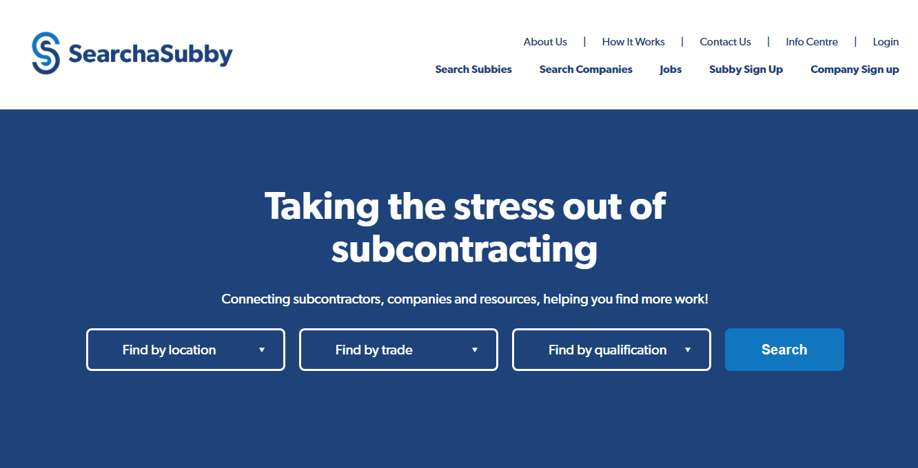Search a subby landing page