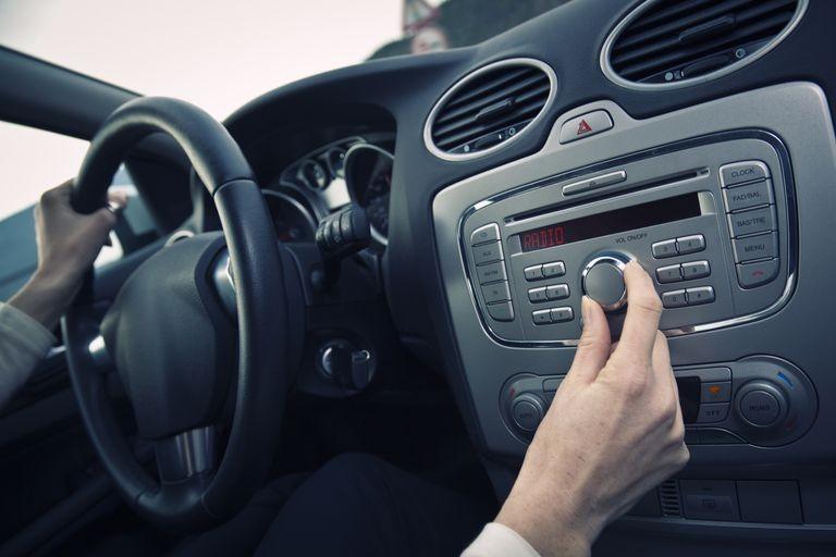 car radio distracted