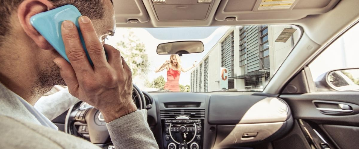 Distracted driving mobile phone