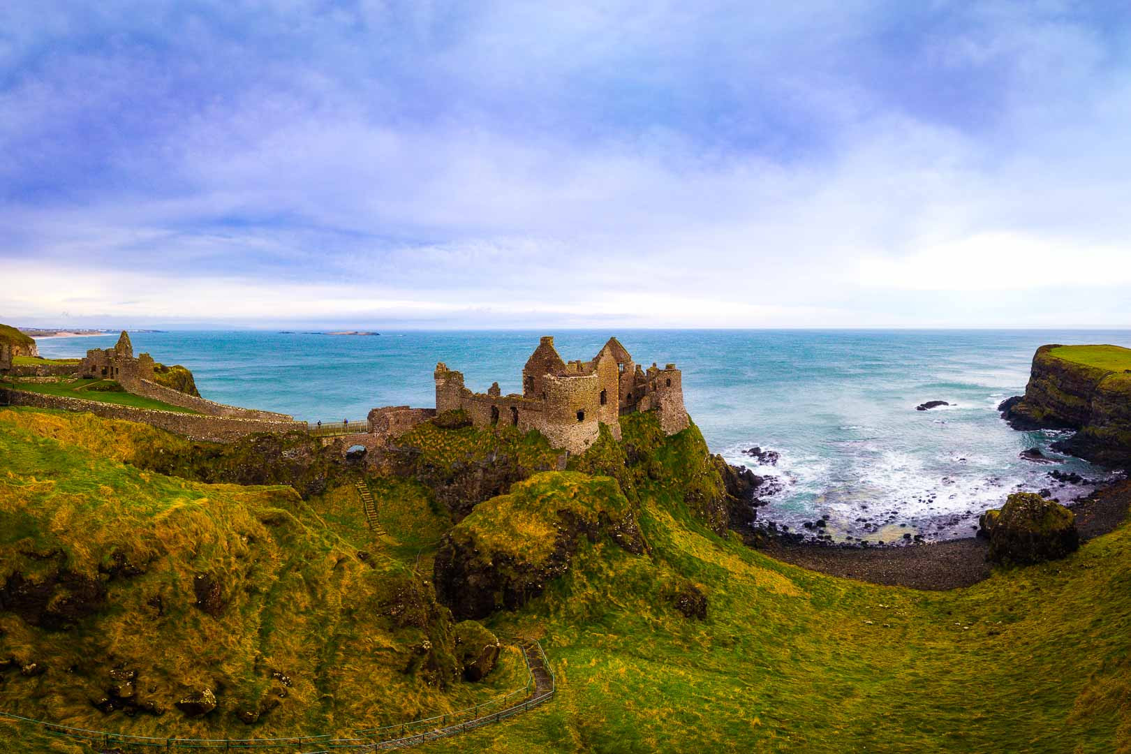 dunluce castle in northern ireland united kingdom by kevmrc