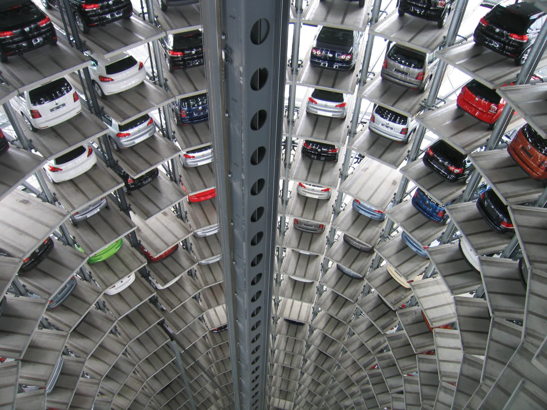vehicles-parked-inside-elevated-parking-lot-63294
