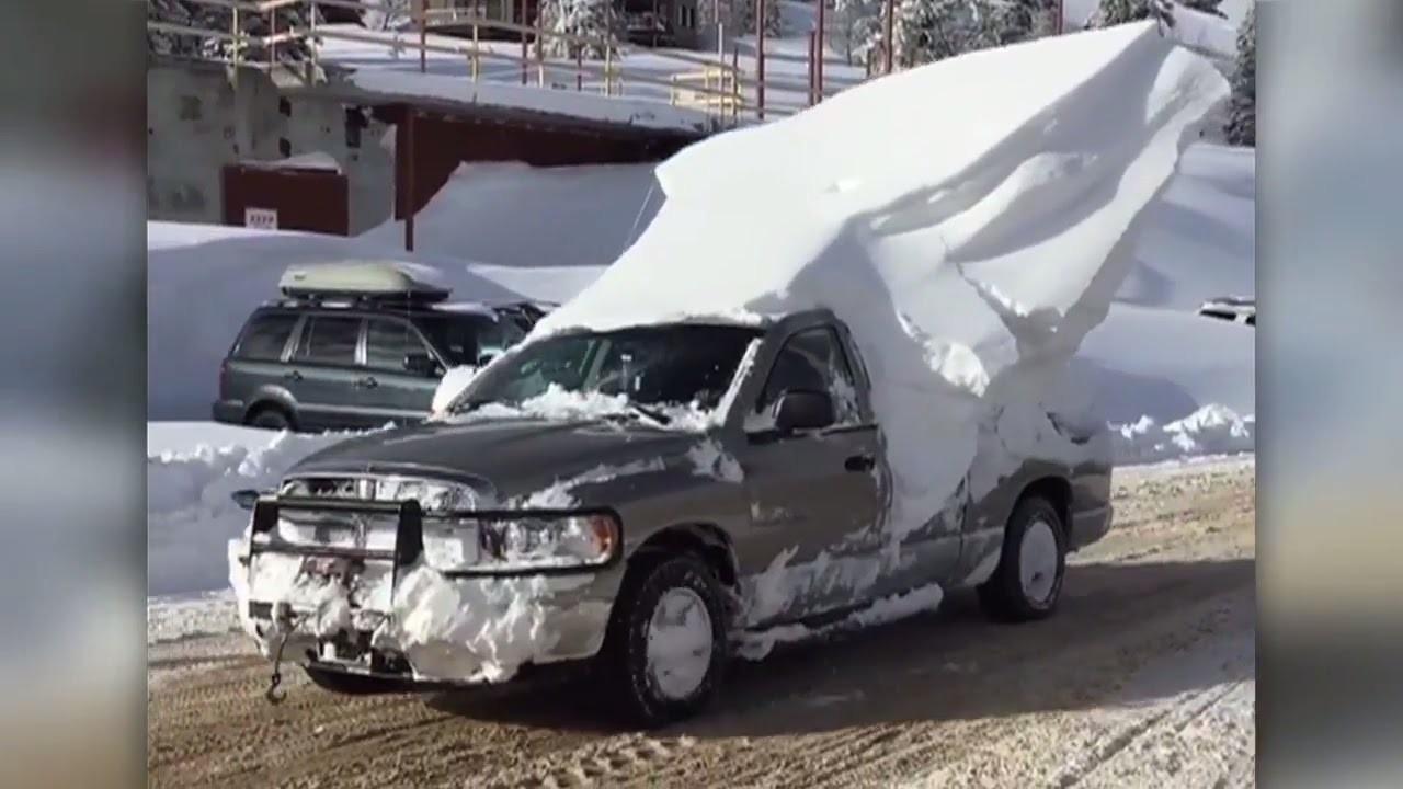 snow car roof