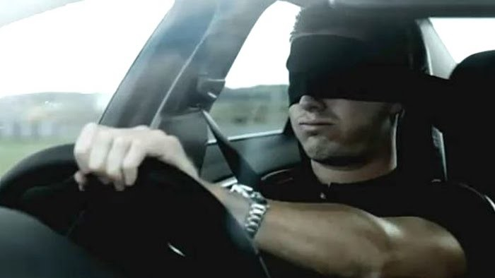 driving blindfolded