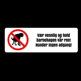 Hunder ingen adgang