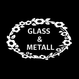 Kildesortering glass og metall klistremerke