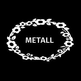 Kildesortering Metall – Holdbart klistremerke
