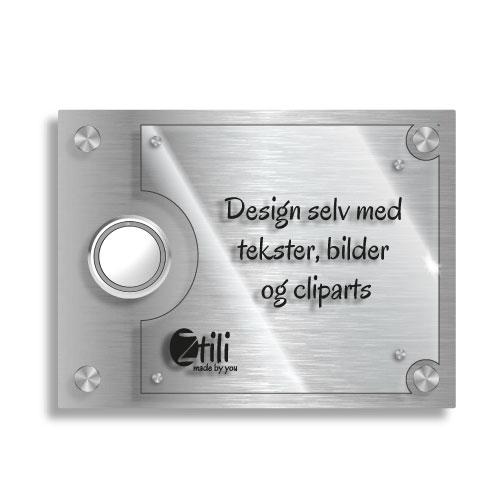 Dørskilt Follo med eksklusivt design og trådløs ringeklokke