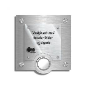 Dørskilt Dale med eksklusivt design og trådløs ringeklokke
