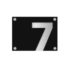 Husnummerskilt i akryl og aluminium - Z House 02