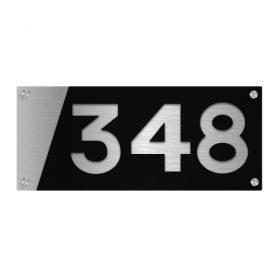 Husnummerskilt i akryl og aluminium - Z House 06