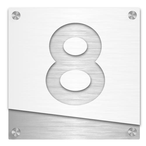 Husnummerskilt Foldal i akryl og aluminium – Z House 05