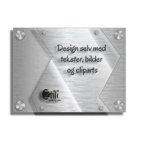 Dørskilt Dokka i moderne og eksklusivt design uten ringeklokke