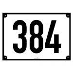 Godkjent husnummerskilt Bismo etter kommunale regler
